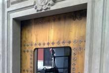 Puerta exterior PVC y vidrio