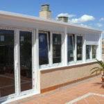 Terraza acristalada PVC