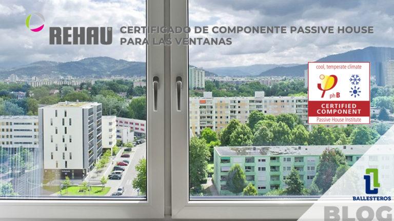 """Certificado de componente """"Passivhaus"""""""