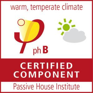 Certificado para componente Passivehaus