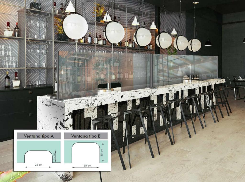 Proteck-LV instalado en barra de bar